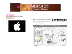 Patente d'Apple, déposée en 2010, décrivant un système de billetterie mobile avec délivrance de m-tickets.